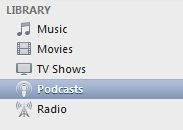 podcasts tab