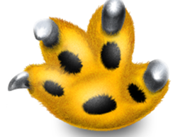 growl logo, showing a cat's paw with claws reaching out