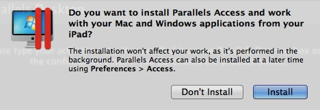 Install and Don't Install buttons