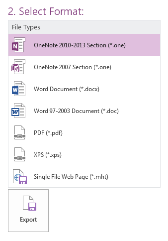 OneNote 2016: Save a File in  pdf or  xps Form - GROK