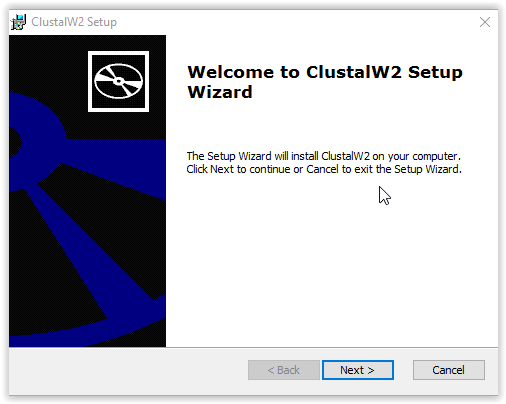 Installation Wizard for Clustal W