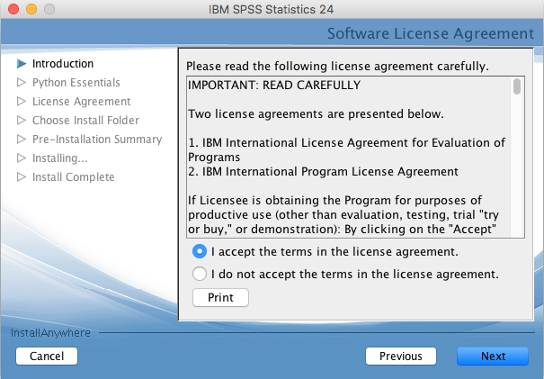 software license agreement window
