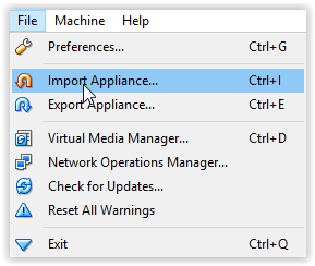 the import appliance command.