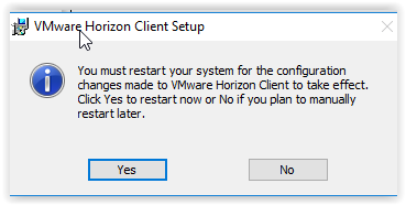 the restart the system screen