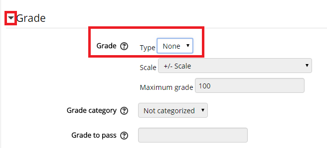 grade settings section