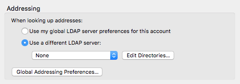 Edit Directories button
