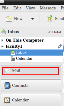Evolution Mail tab in pane