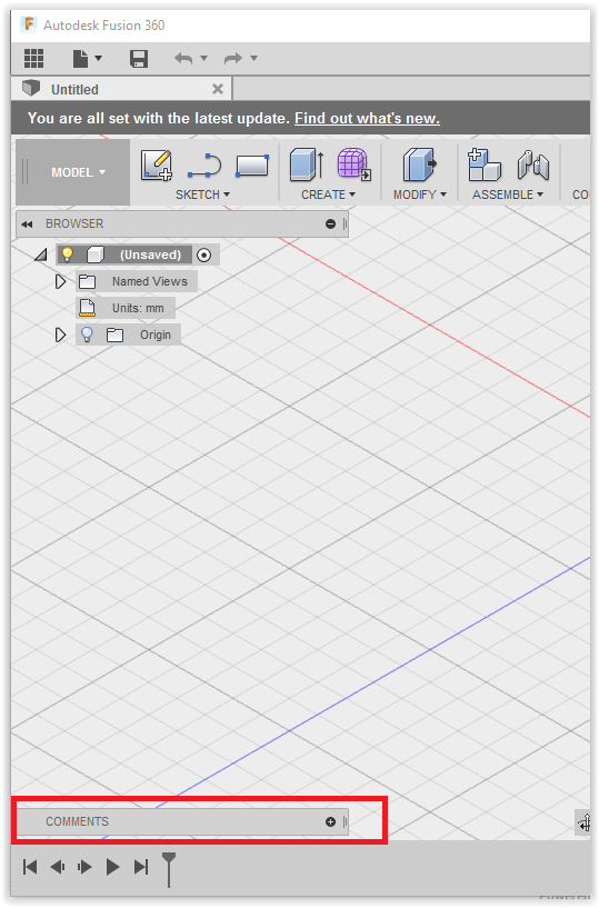 Fusion360: Using the Comments - GROK Knowledge Base