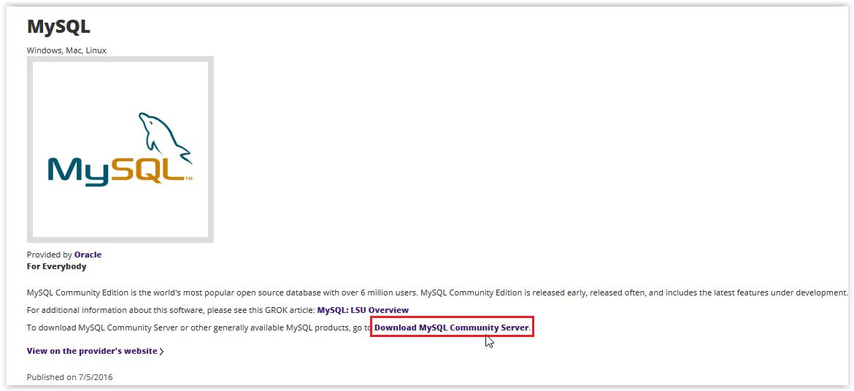 mySQL 5 7: Installation Instructions (Linux) - GROK Knowledge Base