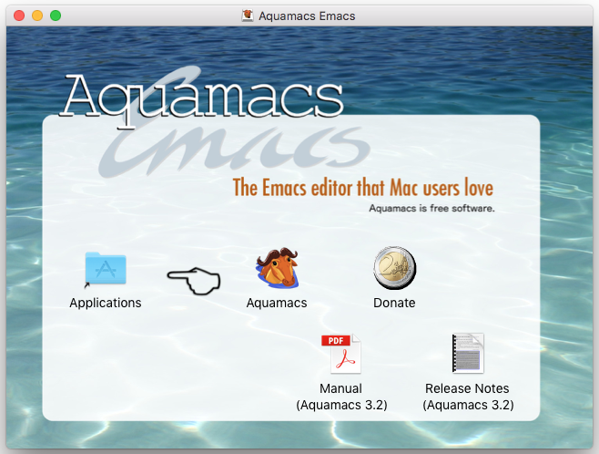 Aquamacs Emacs folder