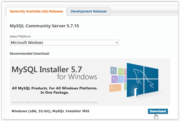 MySQL 5 7: Installation Instructions (Windows) - GROK
