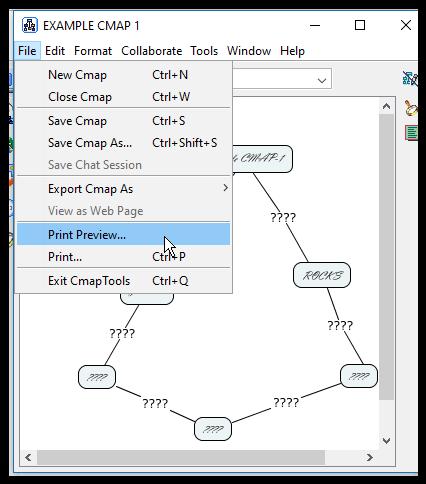 CmapTools: Printing a Cmap - GROK Knowledge Base