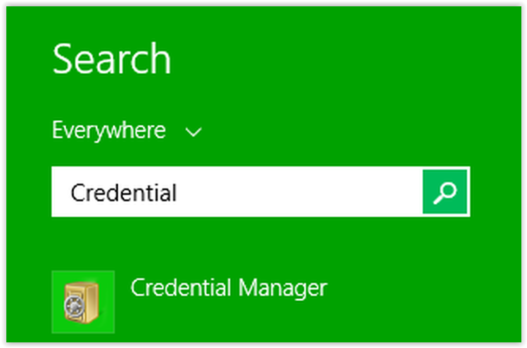opening the credential manager