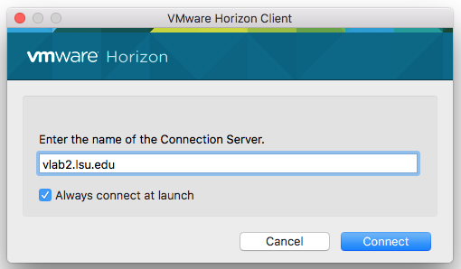 VMware Connection Server window