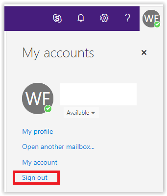 Sign out of LSUMail option