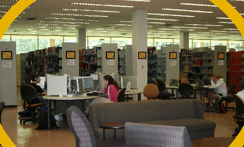 LSU Library first floor